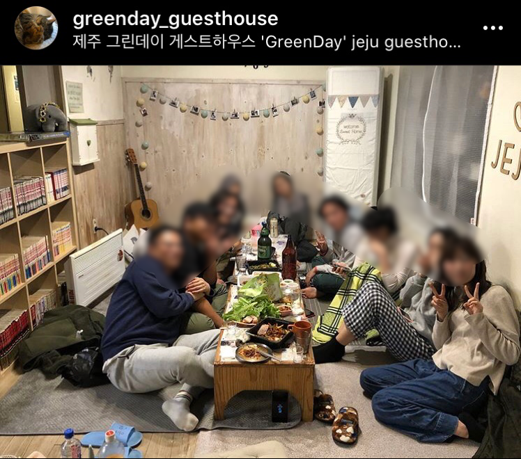 Greenday Guesthouseの共用リビング