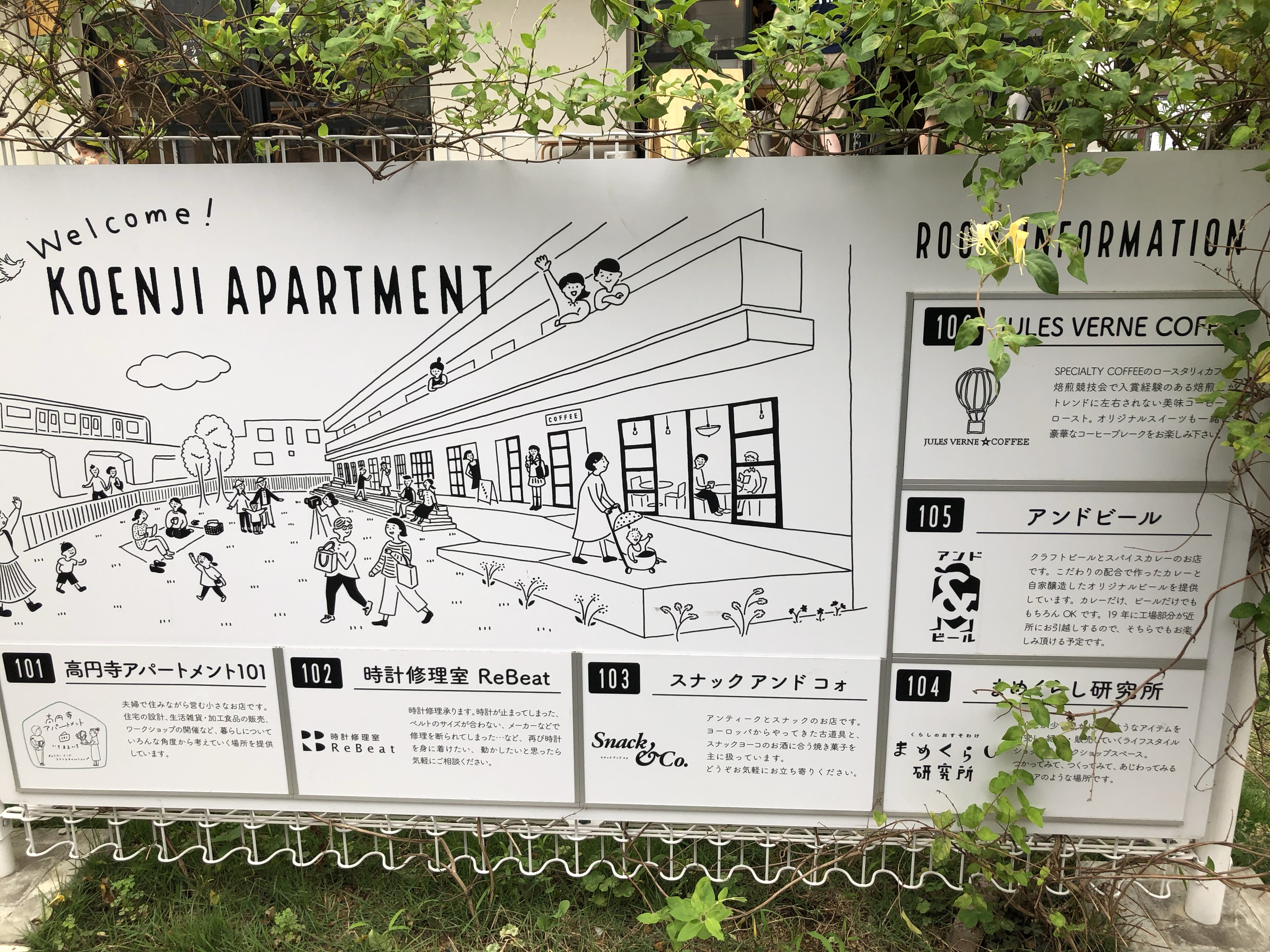 KOENJI APARTMENTの看板